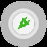 Icono fuente de alimentacion RFID